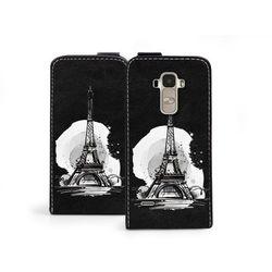 Flip Fantastic - LG G4 Stylus - etui na telefon Flip Fantastic - czarno-biała wieża Eiffla, kup u jednego z