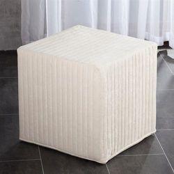 Dekoria  pufa kostka twarda cream, 40x40x40cm