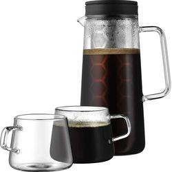 Kawiarka tłokowa z filiżankami WMF
