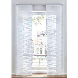 Zasłona panelowa żakardowa, jednokolorowa biały marki Bonprix