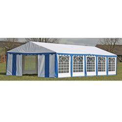 Vidaxl  pawilon ogrodowy 10x5m (dach+penele boczne), niebiesko-biały