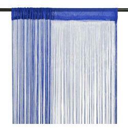 Vidaxl Zasłony sznurkowe, 2 sztuki, 140 x 250 cm, niebieskie