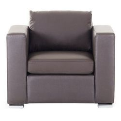Skórzany fotel brązowy - sofa - helsinki marki Beliani