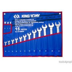 King tony Zestaw kluczy płasko-oczkowych 15cz. 6 - 32mm 1215mrn02 (4712755718074)