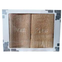 Komplet ręczników frotte 2 szt. mąż żona beż marki Ziplar