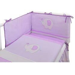 Mamo-tato pościel 3-el słonik fioletowy do łóżeczka 60x120cm
