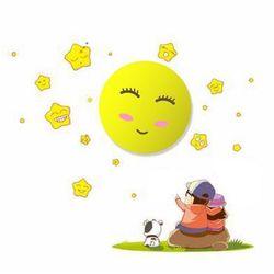 Milagro Lampka dziecięca słoneczko na baterie z naklejką