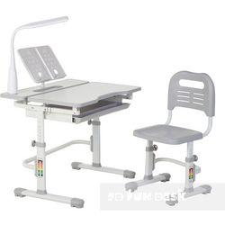 Lavoro Grey - Ergonomiczne, regulowane biurko dziecięce z krzesełkiem FunDesk - ZŁAP RABAT: KOD30