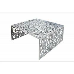 Invicta stolik kawowy abstract 60cm - srebrny, aluminium marki Sofa.pl