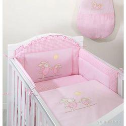 MAMO-TATO pościel 2-el Wesołe zajączki w różu do łóżeczka 70x140cm z kategorii komplety pościeli dla dzieci