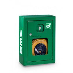 Szafka metalowa zielona na defibrylator aed wersja z alarmem dźwiękowym od producenta Heartsine