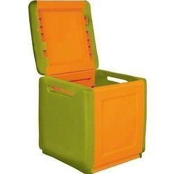 Pomarańczowo seledynowa skrzynia ogrodowa balkonowa 160l cb1/c marki Artplast