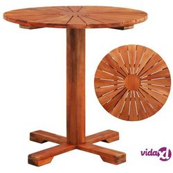 vidaXL Okrągły stolik na jednej nodze, lite drewno akacjowe, 70x70 cm (8718475614265)
