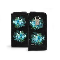 Flip fantastic - lg g4 stylus - etui na telefon flip fantastic - turkusowa orchidea od producenta Etuo.pl