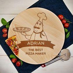 Mygiftdna Best pizza maker - deska obrotowa - deska obrotowa