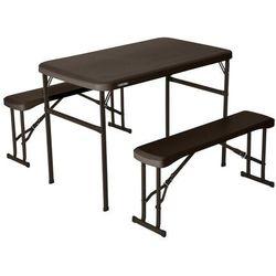 Zestaw ogrodowy stół i dwie ławki 106 cm 80424 marki Lifetime