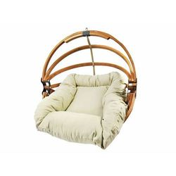 Fotel hamakowy drewniany, miodowy beż Gaya (L)-B
