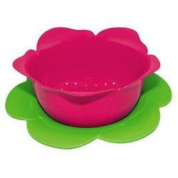 Zak! designs Durszlak z podstawką duży zak! różowo- zielony
