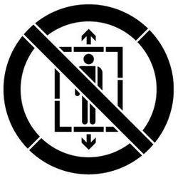 Szabloneria Szablon do malowania znak zakaz używania windy przez ludzi gp027 - 15x15 cm
