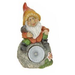 Lampa solarna krasnal figurka kamienna kamień - kamień marki Progarden