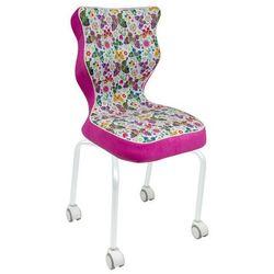 Entelo Krzesło na kółkach z dziecięcym motywem rete white