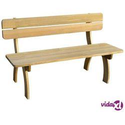 Vidaxl ławka ogrodowa, 150 cm, impregnowane drewno sosnowe fsc