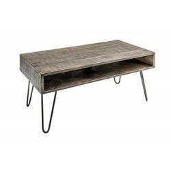 Sofa.pl Invicta stolik kawowy scorpion 100 cm - mango, szary, drewno, żelazo