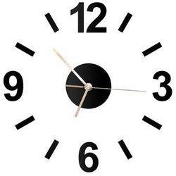 Zegar z pleksi na ścianę ze złotymi wskazówkami