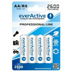 4x akumulatorki everActive R6/AA Ni-MH 2600 mAh ready to use (5902020523383)