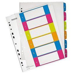 Przekładki plastikowe A4 do nadruku 1-6 Leitz WOW 12420000