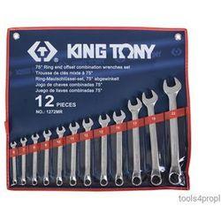 Zestaw kluczy płasko-oczkowych odgiętych 12cz. 6 - 22mm 1272mr marki King tony