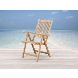 Drewniane krzesło ogrodowe - regulowane oparcie - RIVIERA z kategorii Krzesła ogrodowe