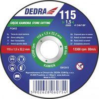 Tarcza do cięcia  f13412 115 x 1.5 x 22.2 mm do kamienia marki Dedra