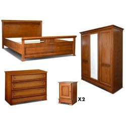 Zestaw do sypialni kolekcja laurel: 5 elementów do sypialni marki Vente-unique
