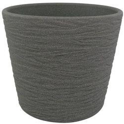 Osłonka doniczki Cermax 17 cm ciemny grafit struktura