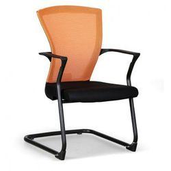 Krzesło konferencyjne Bret, czarno/pomarańczowe