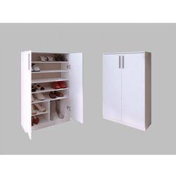 Vente-unique Szafka na buty mathias – 2-drzwiowa – kolor biały