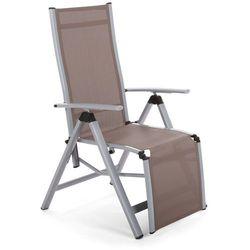 Home & garden Krzesło ogrodowe aluminiowe ibiza relax silver / taupe