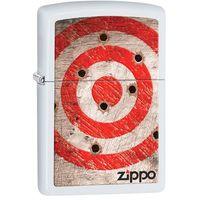 Zapalniczka ZIPPO Bullet Holes, White Matte (Z214001) z kategorii Zapalniczki