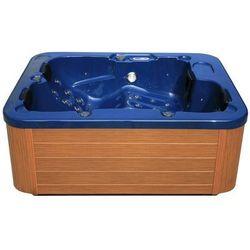 Zewnętrzne spa niebieskie - ogrodowe - wanna - whirlpool - LAGOON