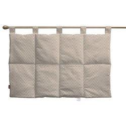 wezgłowie na szelkach, białe zygzaki na beżowym tle, 90 x 67 cm, brooklyn marki Dekoria