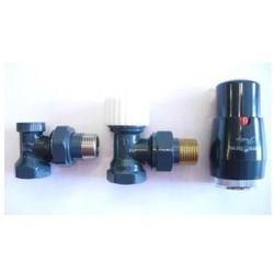 Zestaw zawór grzejnikowy termostatyczny antracyt od producenta Vario term
