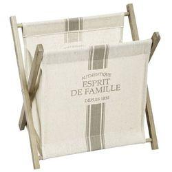 Gazetnik drewniany na prasę, pojemnik na gazety, kosz na gazety, stojak na czasopisma, pojemnik na pisma, akcesoria dla domu marki Atmosphera créateur d'intérieur