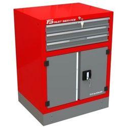 Szafka warsztatowa z 3 szufladami i drzwiami – t-30 marki Fastservice