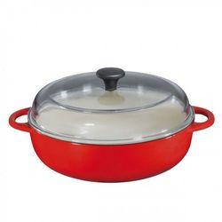 Küchenprofi wysoka patelnia z pokrywą 28 cm, czerwona (4007371056731)