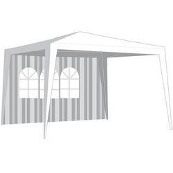 ściana boczna do namiotu ogrodowego z oknem, paski marki Happy green