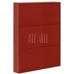 Szafka na buty slim flash f-slb38 - czerwony marki Allhall