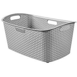 CURVER KOSZ DO MAGLA MY STYLE 47L - Srebrny z kategorii Kosze na pranie