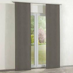 Dekoria Zasłony panelowe 2 szt., pasy czarno-srebrne, 60 x 260 cm, Wyprzedaż do -30%