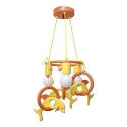 Lampa wisząca DELFIN pomarańczowa/ żółta/ drewno - sprawdź w wybranym sklepie